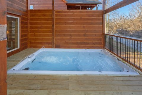 Premium Cabin with Swim Spa Hot Tub on deck - Rushing Waters