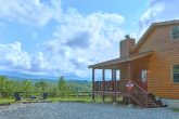 Views of the Smoky Mountains from secluded cabin