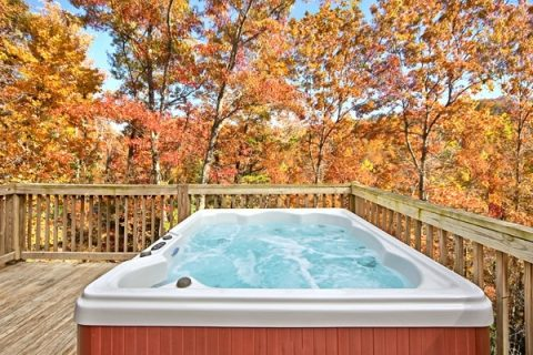 Cabin with multi jet hot tub - Secret Rendezvous