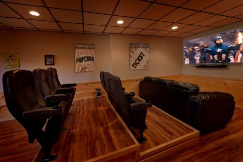 Large Flat Screen TV Theater Room - Serenity
