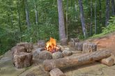 Outdoor Fire Pit 3 Bedroom Cabin