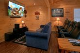 Theater Room in 2 Bedroom Rental Cabin