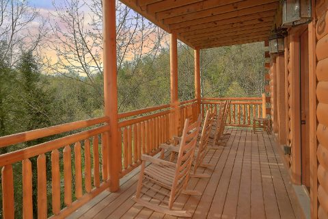 Covered Porch woth Rocking Chairs - Smokey Ridge