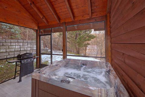 Spacious 2 Bedroom Cabin with Hot Tub Sleeps 6 - Smoky Hilltop