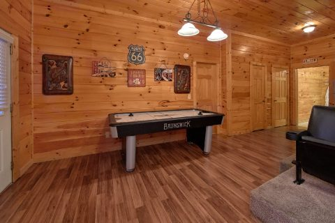 Cabin with Theater Room and Air Hockey Game - Smoky Mountain Lodge