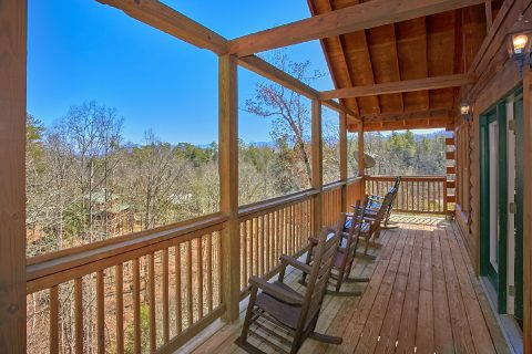 7 Bedroom cabin with Wooded Views from decks - Smoky Mountain Lodge