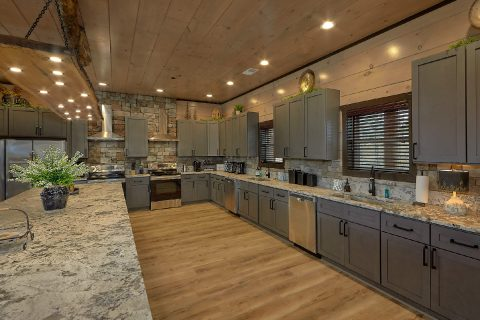 Luxurious kitchen with double Fridges and stoves - Smoky Mountain Masterpiece