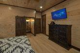 Main level Bedroom with bath in 15 bedroom cabin