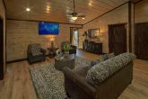 2 Living Rooms in 15 bedroom luxury cabin rental