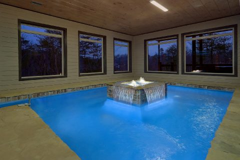 Luxurious cabin with heated indoor pool - Smoky Mountain Masterpiece