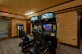 Cabin with Fast and Furious Race Car Arcade game