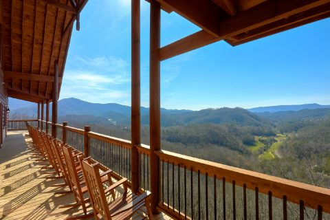 Views of the Mountains from 12 bedroom cabin - Smoky Mountain Memories