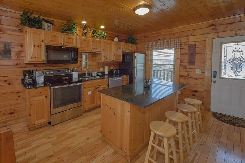 Open Kitchen with Breakfast Bar - Smoky Mountain Retreat