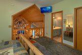 Queen bedroom with bath in cozy 2 bedroom cabin