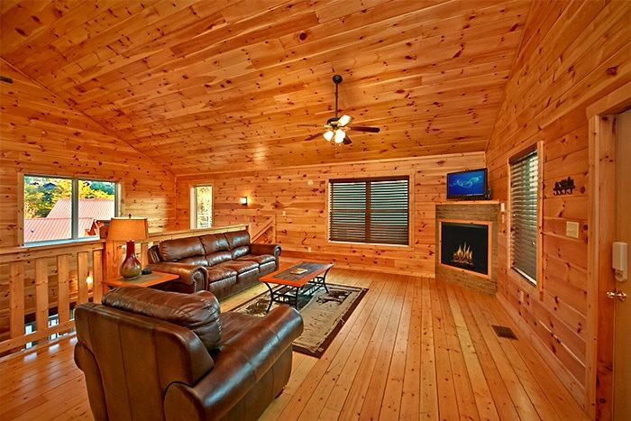 Cabin with sleeper sofa and Flat screen TV - Snuggled Inn