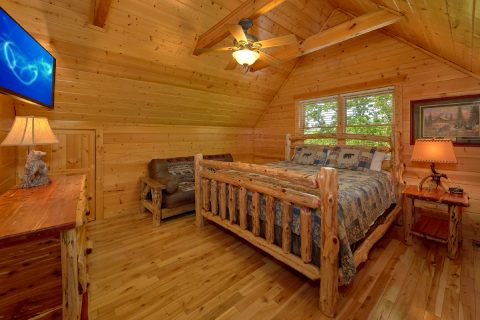 Spacious Cabin with 4 King Bedrooms - Soaring Ridge Lodge
