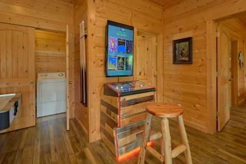 50 in 1 Arcade Game in Luxurious Cabin Rental - Soaring Ridge Lodge