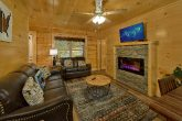 4 bedroom cabin with wooded view and hot tub