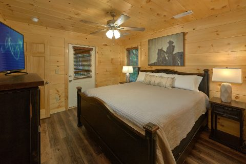 Master bedroom with King bed on main level - Song of the South