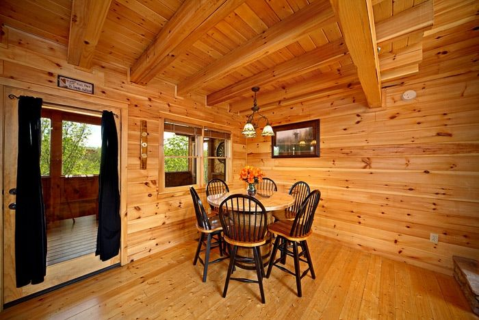 Dining Room Table in Cabin - Southern Style