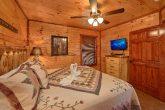 Private Bath in Master Bedroom in Rental Cabin