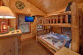 Queen Bunk Beds that sleep 4 in 2 bedroom cabin