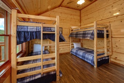 6 Bedroom Cabins with 2 Bunk Beds - Splashin' With A View