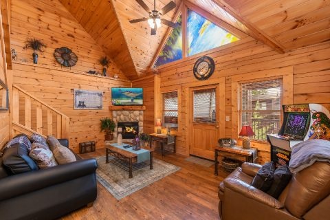 Cozy 1 bedroom cabin with fireplace - Stairway To Heaven