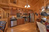 Full Kitchen and Dining Room in 3 Bedroom Cabin