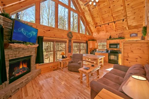 Cabin with cozy living area - Starry Night