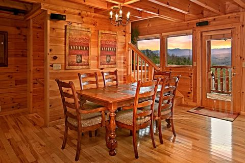 Dining Room Table with Mountian Views - Sugar and Spice
