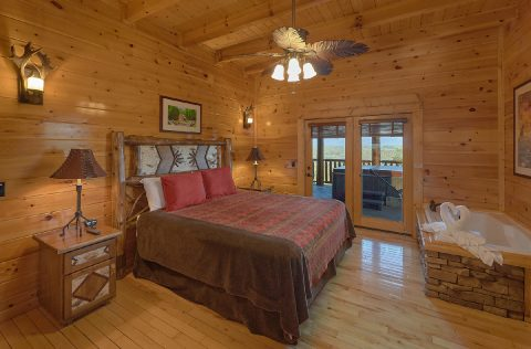 Premium 9 Bedroom cabin with King Bedroom - Summit View Lodge