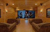 Theater Room in Premium 9 bedroom cabin