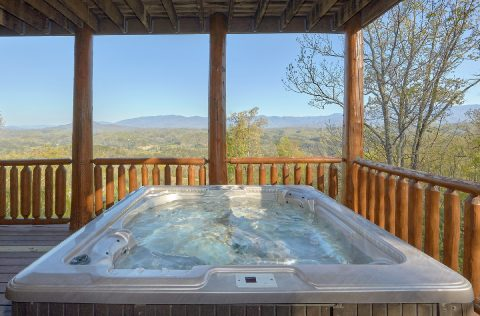 9 bedroom cabin with 2 Private Hot Tubs on deck - Summit View Lodge