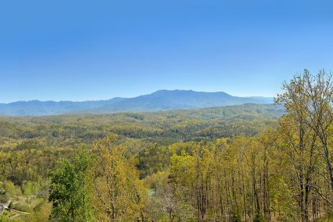 Views of the Smokies from 9 bedroom cabin - Summit View Lodge