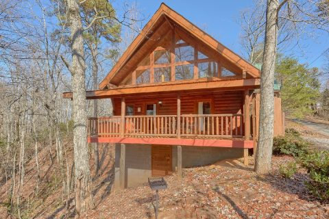 Wooded 1 Bedroom Cabin with Charcoal Grill - Tennessee Dreamin