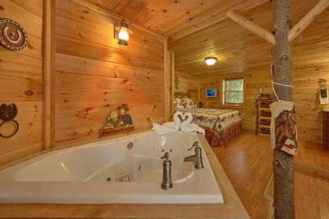 Queen Bedroom with Jacuzzi Sleeps 5 - The Barn