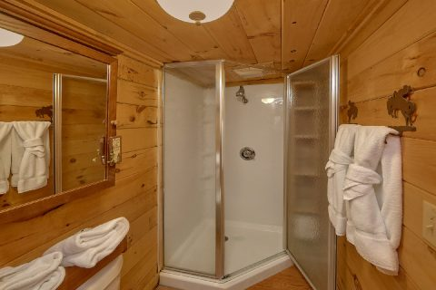 Full Bathroom with Shower and Washer / Dryer - The Barn