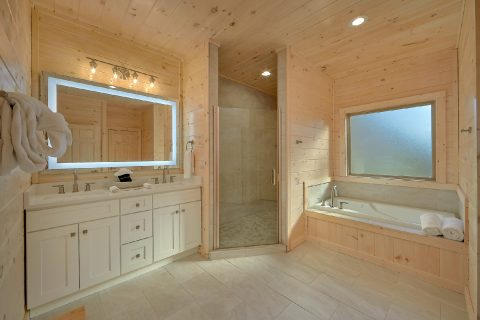 Master Bathroom with Shower and Jacuzzi - The Bear and Buck