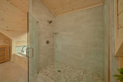 Large Spacious Shower in Master Suite - The Bear and Buck