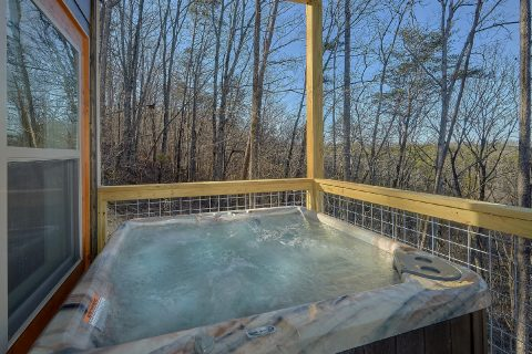 Large Hot Tub with Mountain View - The Bear and Buck