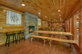 Spacious dining room for 40 in group size cabin