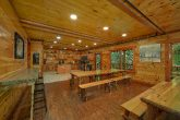 Dining room for 40 guests in 11 bedroom cabin