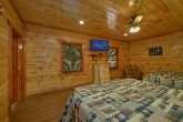 Spacious bedroom with 2 king beds in cabin