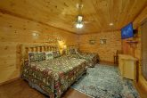 Room with 2 King beds and bath in cabin rental