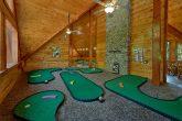 Luxury cabin rental with indoor putt putt course