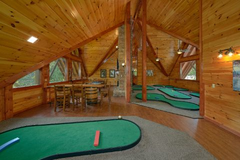 Putt Putt Course in Pigeon Forge cabin rental - The Big Lebowski