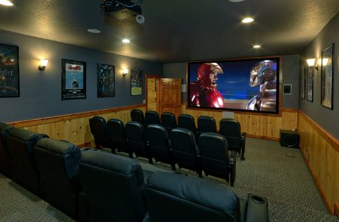 11 bedroom cabin with 28 seat Theater Room - The Big Lebowski