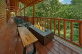 11 bedroom luxury cabin with fire pit on deck