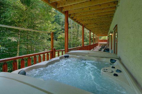 11 bedroom cabin rental with 2 hot tubs - The Big Lebowski